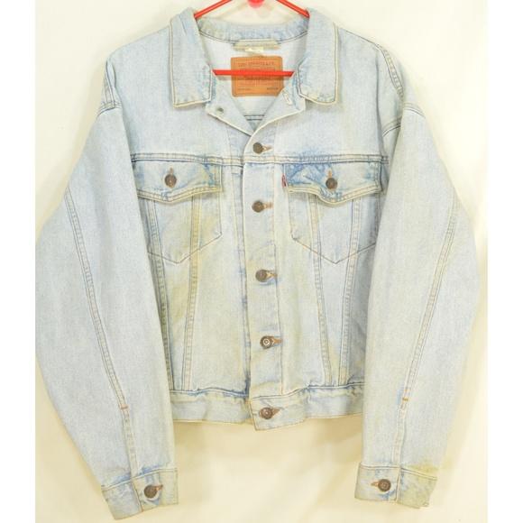 Levi's Other - Levi's jacket men SZ M jeans denim light wash 100%